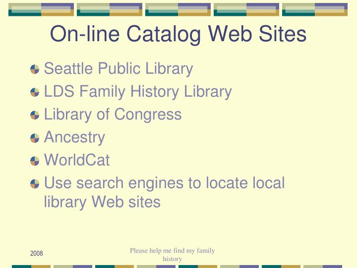 On-line Catalog Web Sites