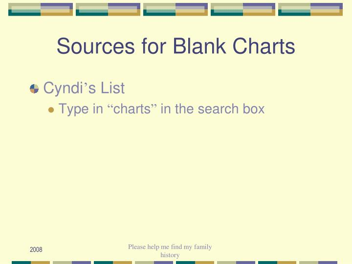 Sources for Blank Charts