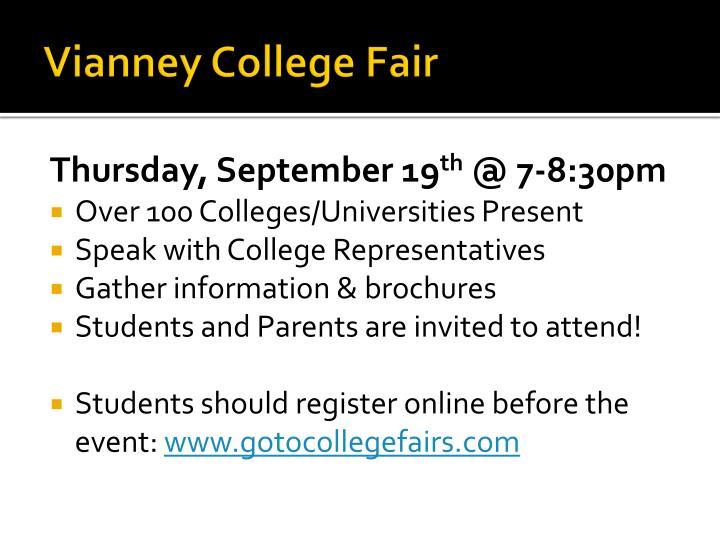 Vianney College Fair