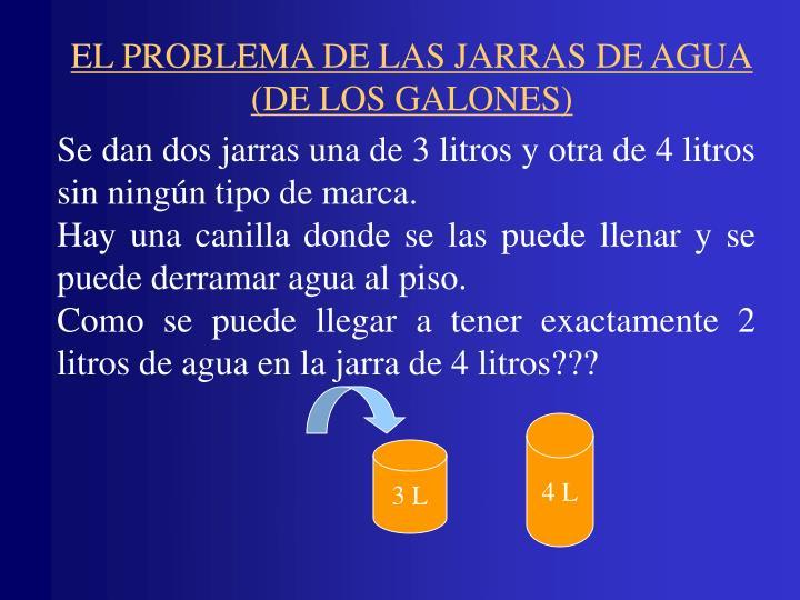 EL PROBLEMA DE LAS JARRAS DE AGUA