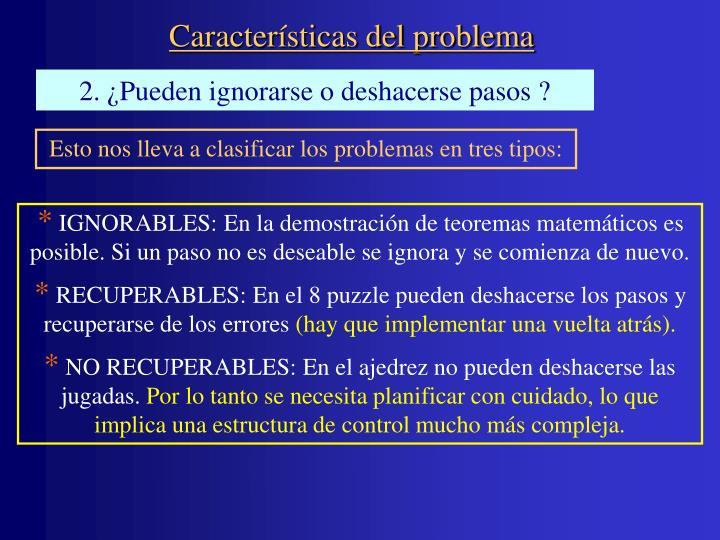 Características del problema