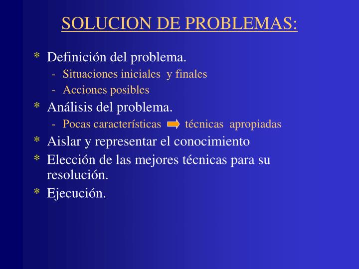 SOLUCION DE PROBLEMAS: