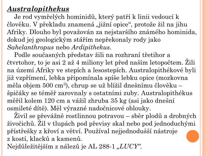 Australopithekus