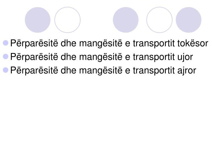 Përparësitë dhe mangësitë e transportit tokësor