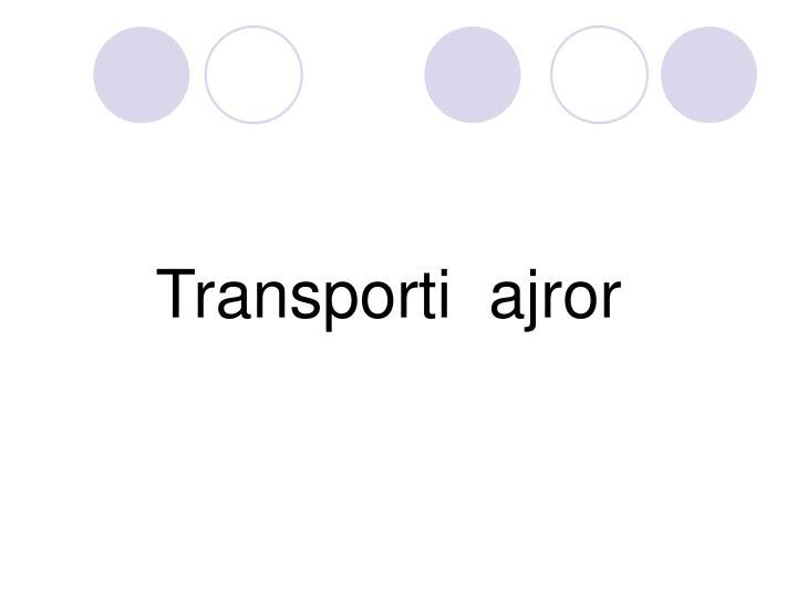 Transporti  ajror