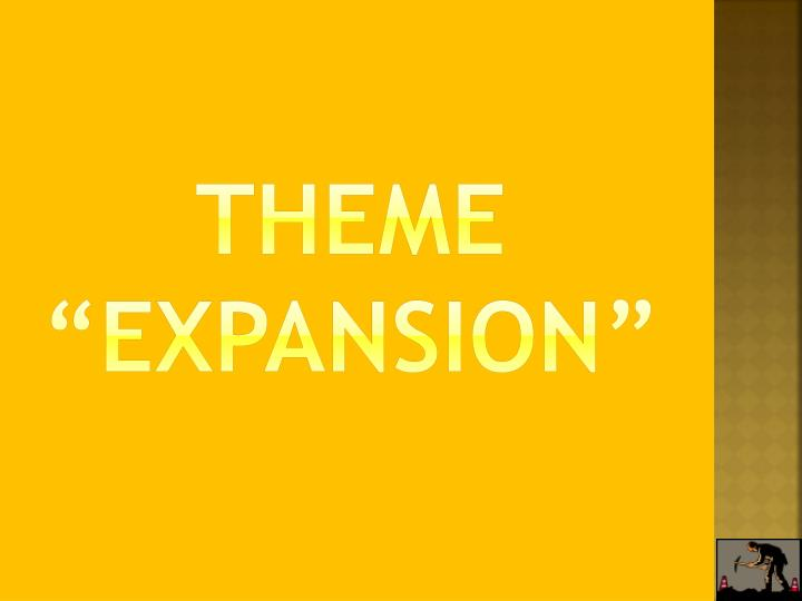 "Theme ""Expansion"""