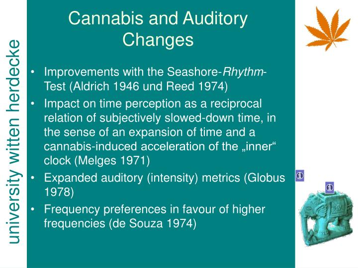 Cannabis and Auditory Changes