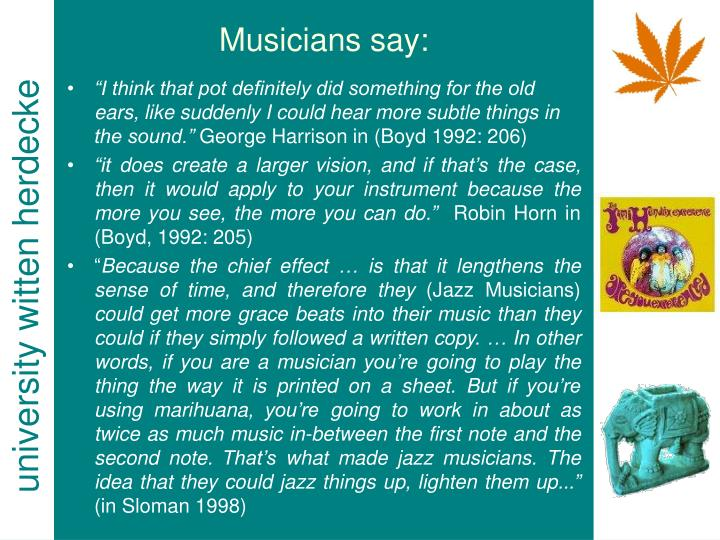 Musicians say: