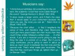musicians say