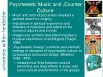psychedelic music and counter culture