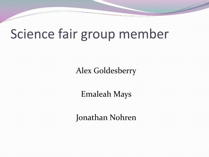Science fair group member