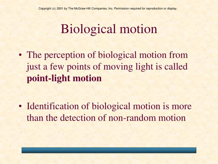 Biological motion