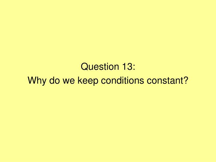 Question 13: