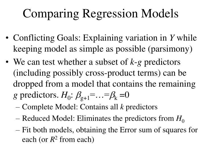 Comparing Regression Models