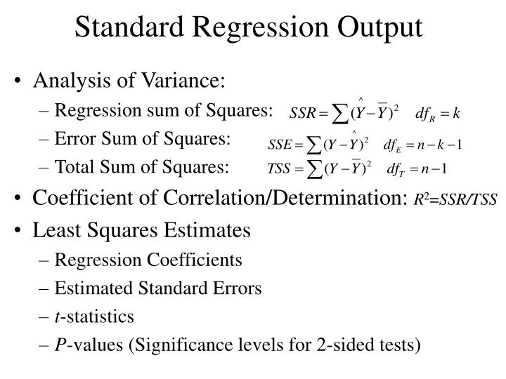 Standard Regression Output
