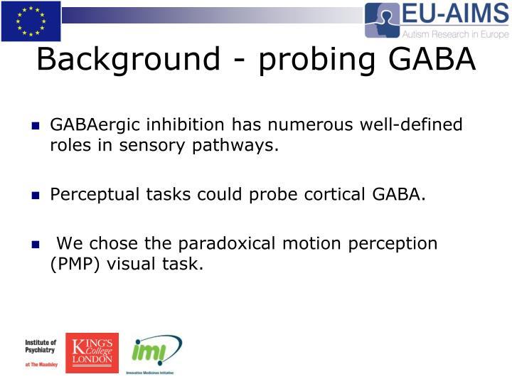 Background - probing GABA