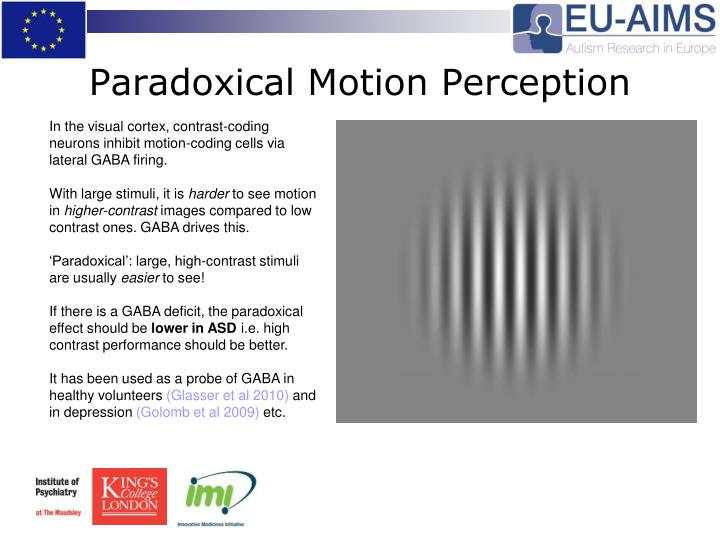 Paradoxical Motion Perception