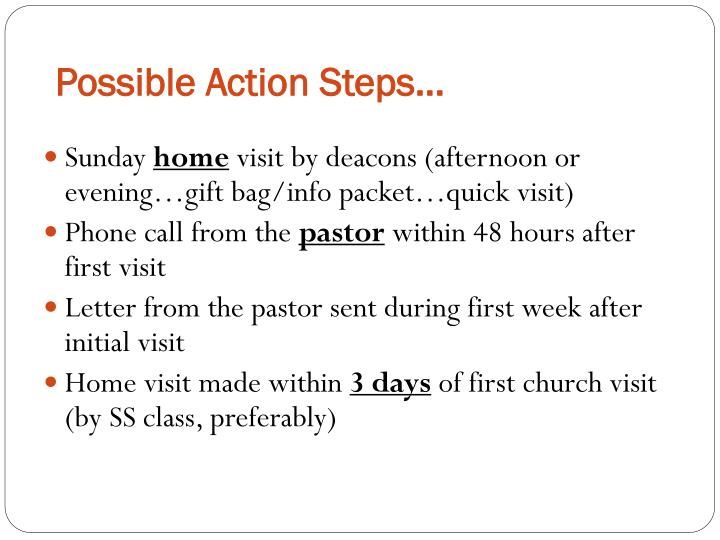 Possible Action Steps…