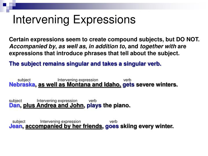 Intervening Expressions