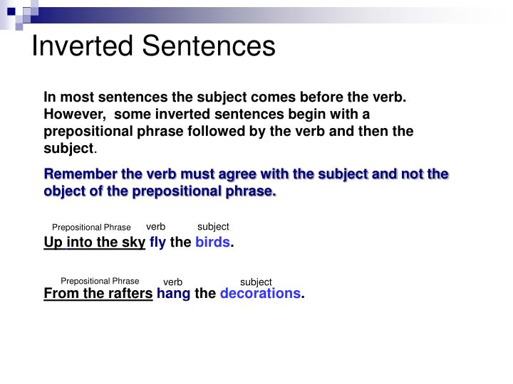 Inverted Sentences