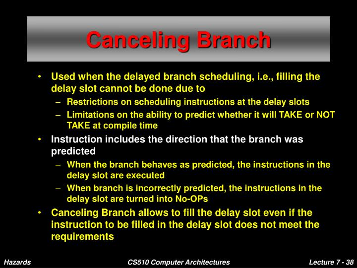 Canceling Branch