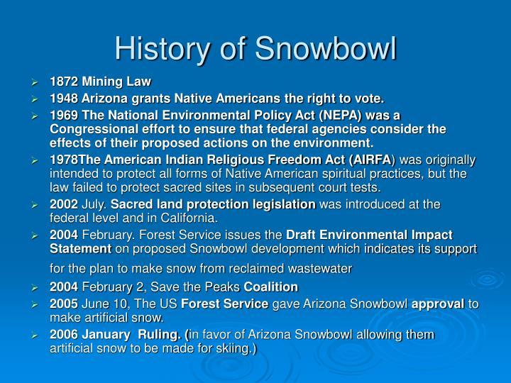 History of Snowbowl