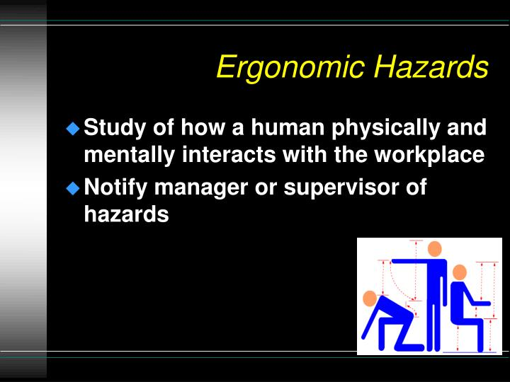 Ergonomic Hazards
