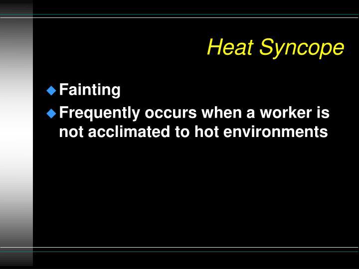 Heat Syncope