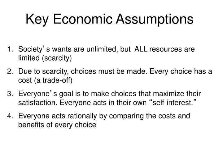 Key Economic Assumptions