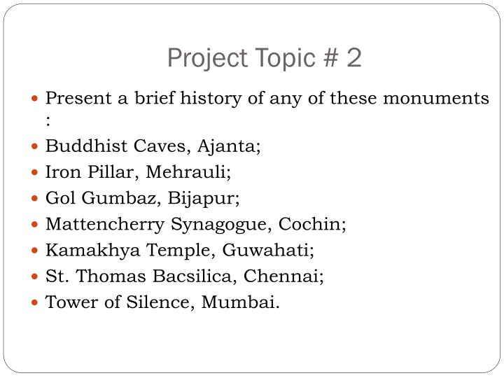 Project Topic # 2