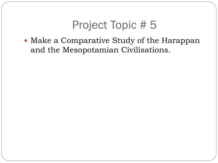 Project Topic # 5