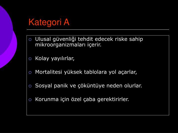 Kategori A