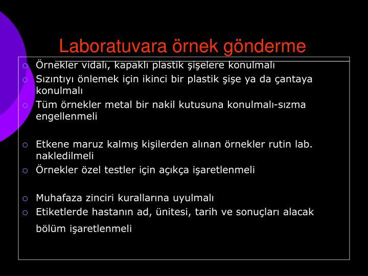 Laboratuvara örnek gönderme