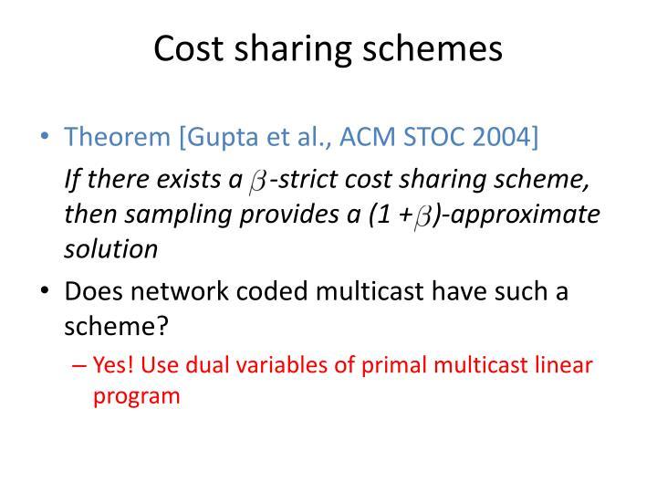 Cost sharing schemes