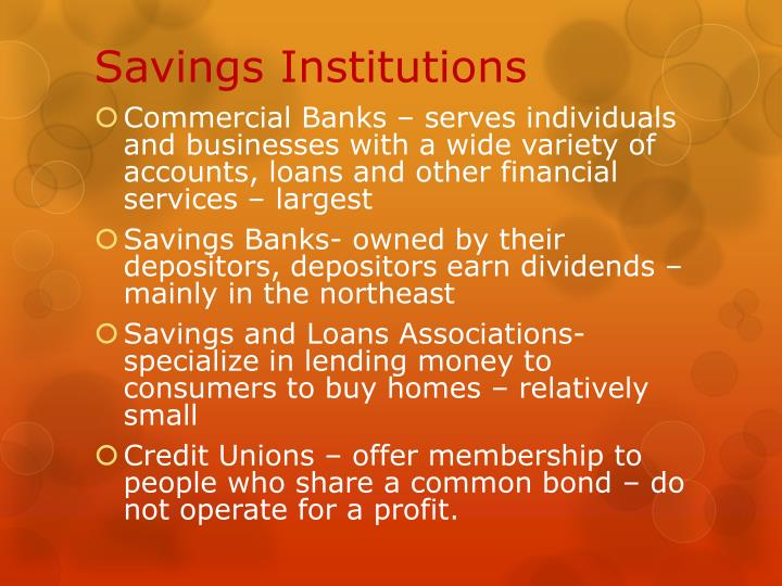 Savings Institutions