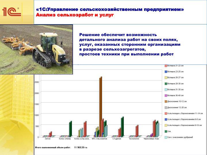 «1С:Управление сельскохозяйственным предприятием»