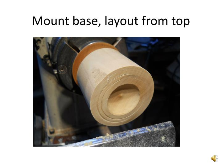 Mount base, layout from top