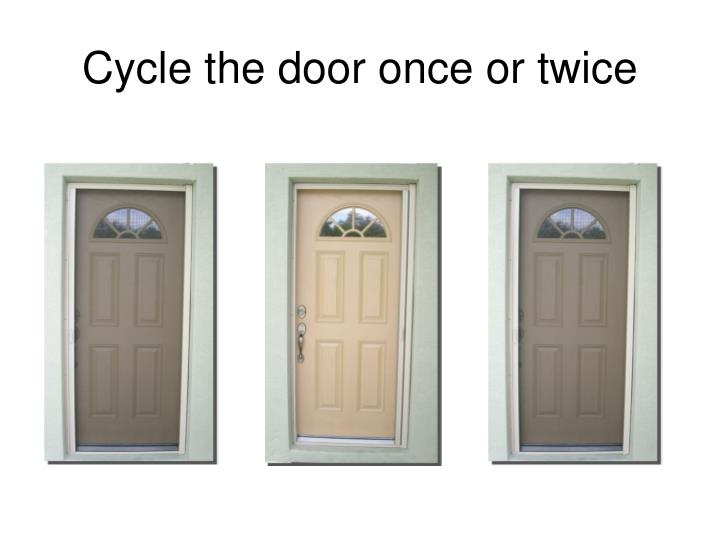 Cycle the door once or twice