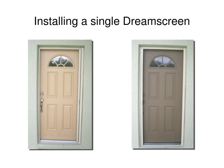Installing a single dreamscreen