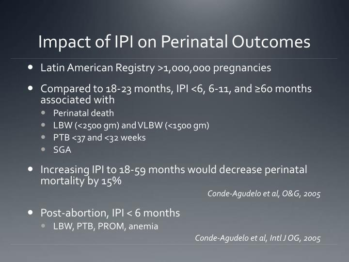 Impact of IPI on