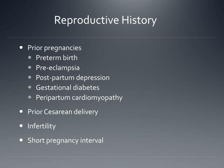 Reproductive History