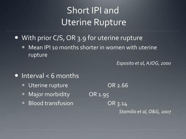 Short IPI and