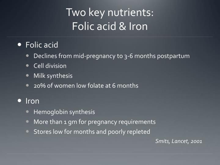 Two key nutrients: