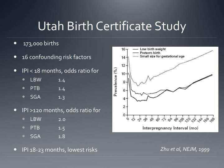 Utah Birth Certificate Study