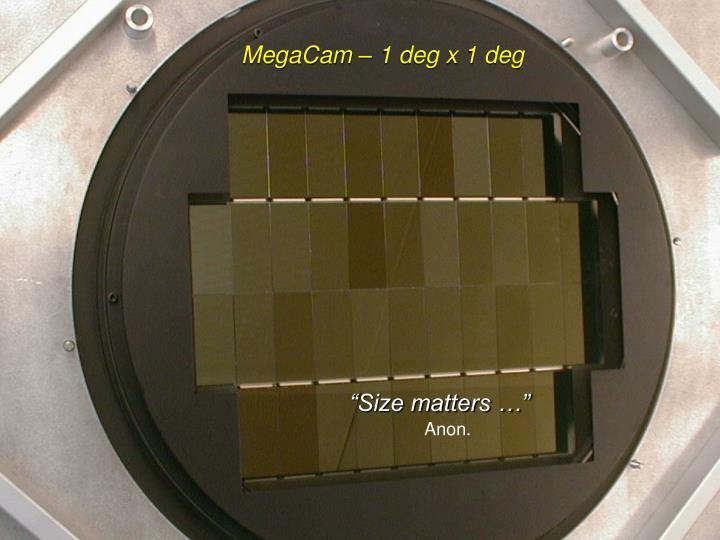 MegaCam – 1 deg x 1 deg