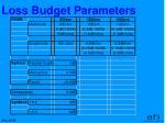 loss budget parameters