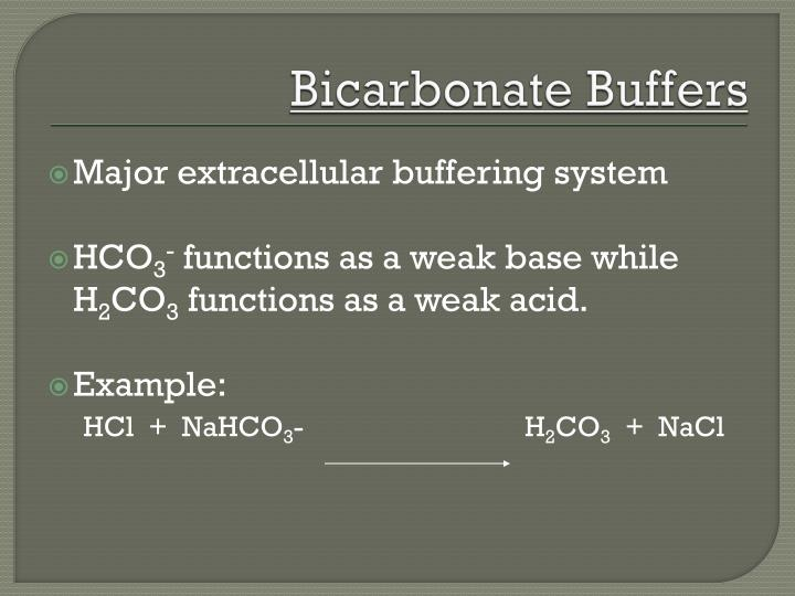 Bicarbonate Buffers