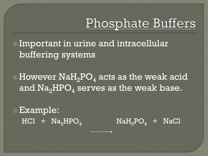Phosphate Buffers