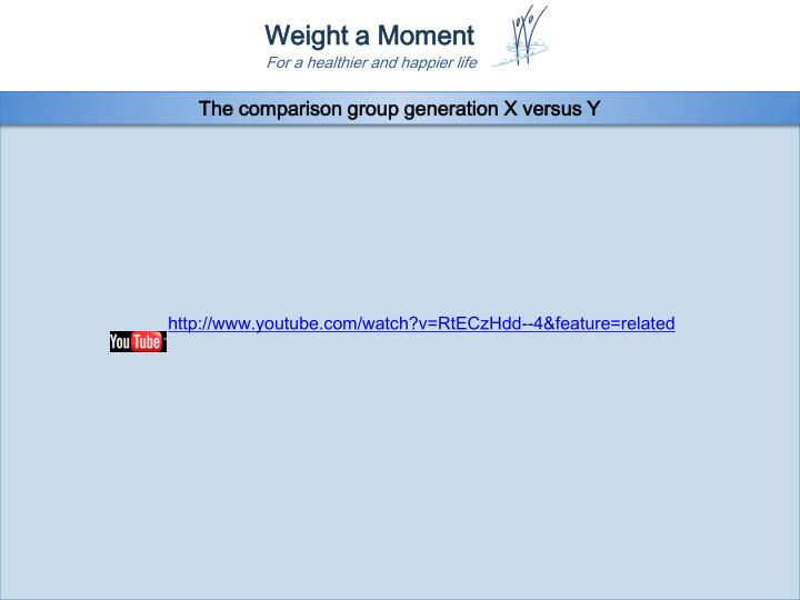 The comparison group generation X versus Y