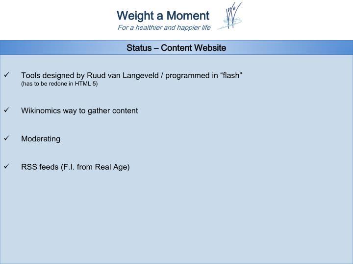 Status – Content Website